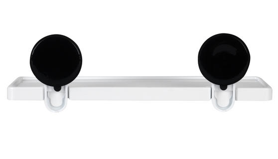 Beldray Plastic Suction Bathroom Shelf, White Thumbnail 4