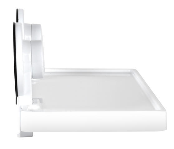 Beldray Plastic Suction Bathroom Shelf, White Thumbnail 5