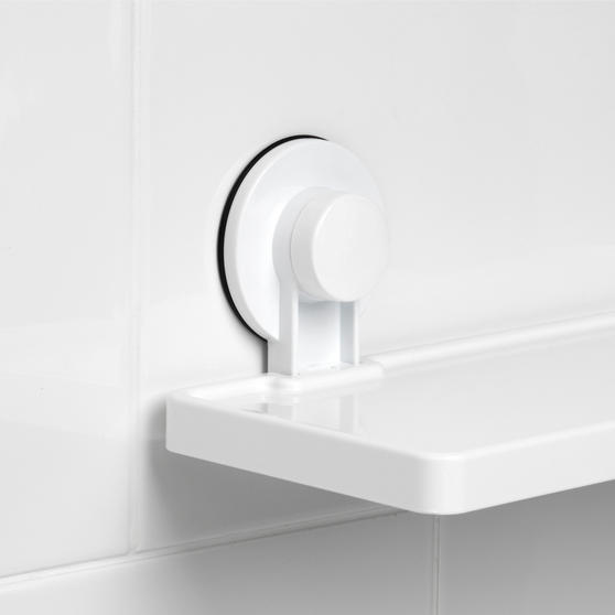 Beldray Plastic Suction Bathroom Shelf, White Thumbnail 6