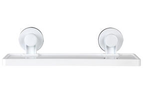 Beldray LA046536 Plastic Suction Bathroom Shelf, White