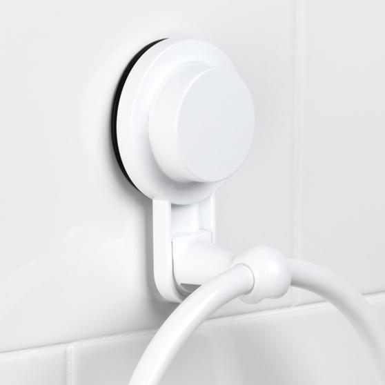 Beldray Plastic Suction Towel Ring, White Thumbnail 6