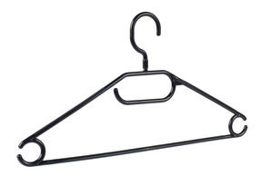 Beldray LA050779BLK Plastic Clothes Hangers, Pack of 10, Black Thumbnail 3
