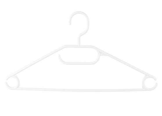 Beldray Plastic Clothes Hangers, Pack of 10, White Thumbnail 3