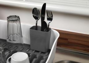 Beldray LA042835 Large Dish Drainer, Grey/White Thumbnail 3