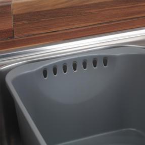 Beldray LA042873 Washing Up Bowl with Drainer, Grey Thumbnail 3