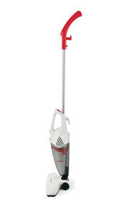 Prolectrix EF0269WK 2 in 1 Stick Vac Upright and Handheld Vacuum Cleaner, 600W, White/Red Thumbnail 2