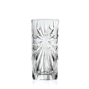 RCR 26277020006 Oasis Crystal Hi-Ball Cocktail Water Tumblers Glasses, 360 ml, Set of 6