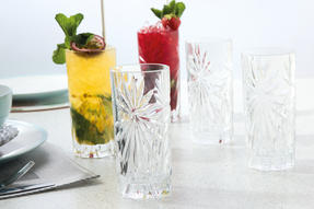 RCR 26277020006 Oasis Crystal Hi-Ball Cocktail Water Tumblers Glasses, 360 ml, Set of 6 Thumbnail 5