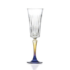 RCR 26321020006 Gipsy Crystal Champagne Flutes Glasses, 210 ml, Set of 6 Thumbnail 1