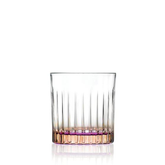 RCR 26322020006 Gipsy Crystal Short Whisky Water Tumblers Glasses, 360 ml, Set of 6, Orange