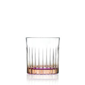RCR 26322020006 Gipsy Crystal Short Whisky Water Tumblers Glasses, 360 ml, Set of 6, Orange Thumbnail 1