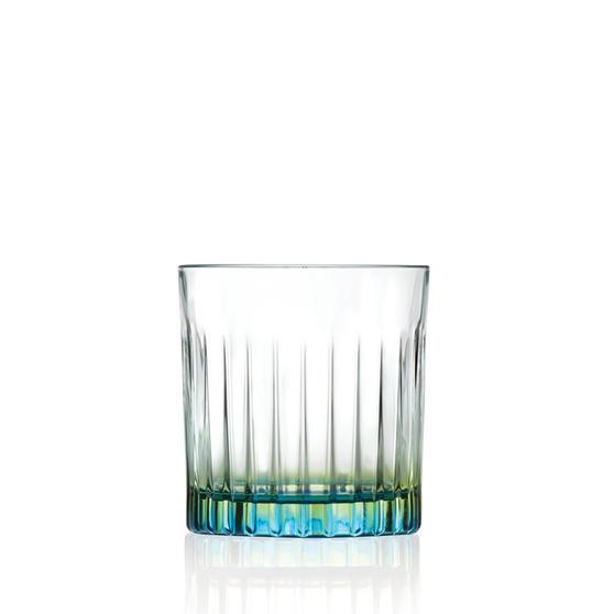RCR 26323020006 Gipsy Crystal Short Whisky Water Tumblers Glasses, 360 ml, Set of 6, Green