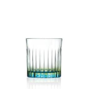 RCR 26323020006 Gipsy Crystal Short Whisky Water Tumblers Glasses, 360 ml, Set of 6, Green Thumbnail 1