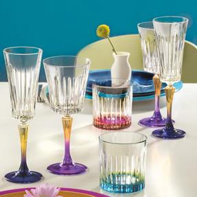 RCR 26323020006 Gipsy Crystal Short Whisky Water Tumblers Glasses, 360 ml, Set of 6, Green Thumbnail 2