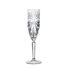 RCR 26327020006 Oasis Crystal Champagne Flutes Glasses, 160 ml, Set of 6 Thumbnail 1