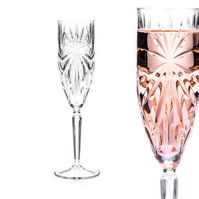 RCR 26327020006 Oasis Crystal Champagne Flutes Glasses, 160 ml, Set of 6 Thumbnail 6