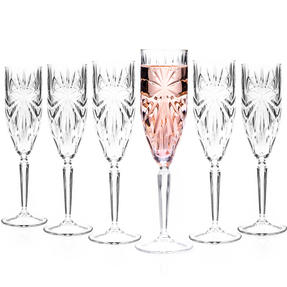 RCR 26327020006 Oasis Crystal Champagne Flutes Glasses, 160 ml, Set of 6 Thumbnail 7