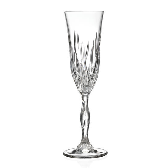 RCR 25969020006 Fire Crystal Champagne Flutes Glasses, 210 ml, Set of 6