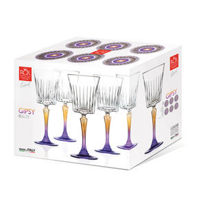 RCR 26320020006 Gipsy Crystal Wine Glasses Goblets, 298 ml, Set Of 6 Thumbnail 2