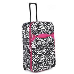 Constellation LG002653PCZEBPKQDMIL Eva 3 Piece Suitcase Set, 18?, 24? & 28?, Zebra Print, Pink Thumbnail 3