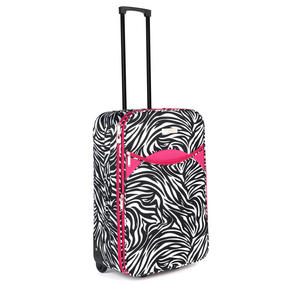 Constellation LG002653PCZEBPKQDMIL Eva 3 Piece Suitcase Set, 18?, 24? & 28?, Zebra Print, Pink Thumbnail 4