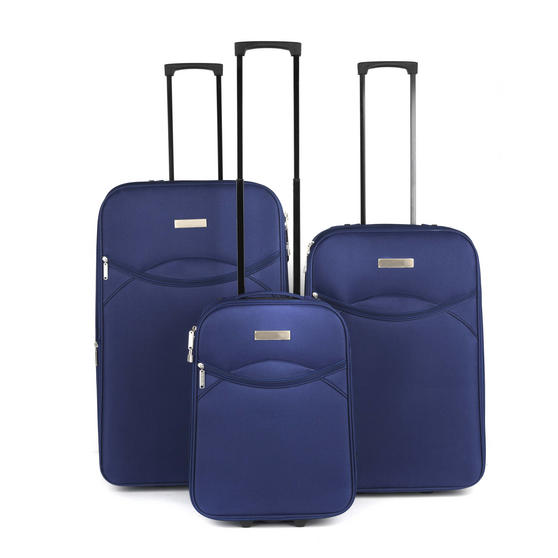 Constellation LG002653PCNAQDMIL Eva 3 Piece Suitcase Set, 18/24/28?, Navy