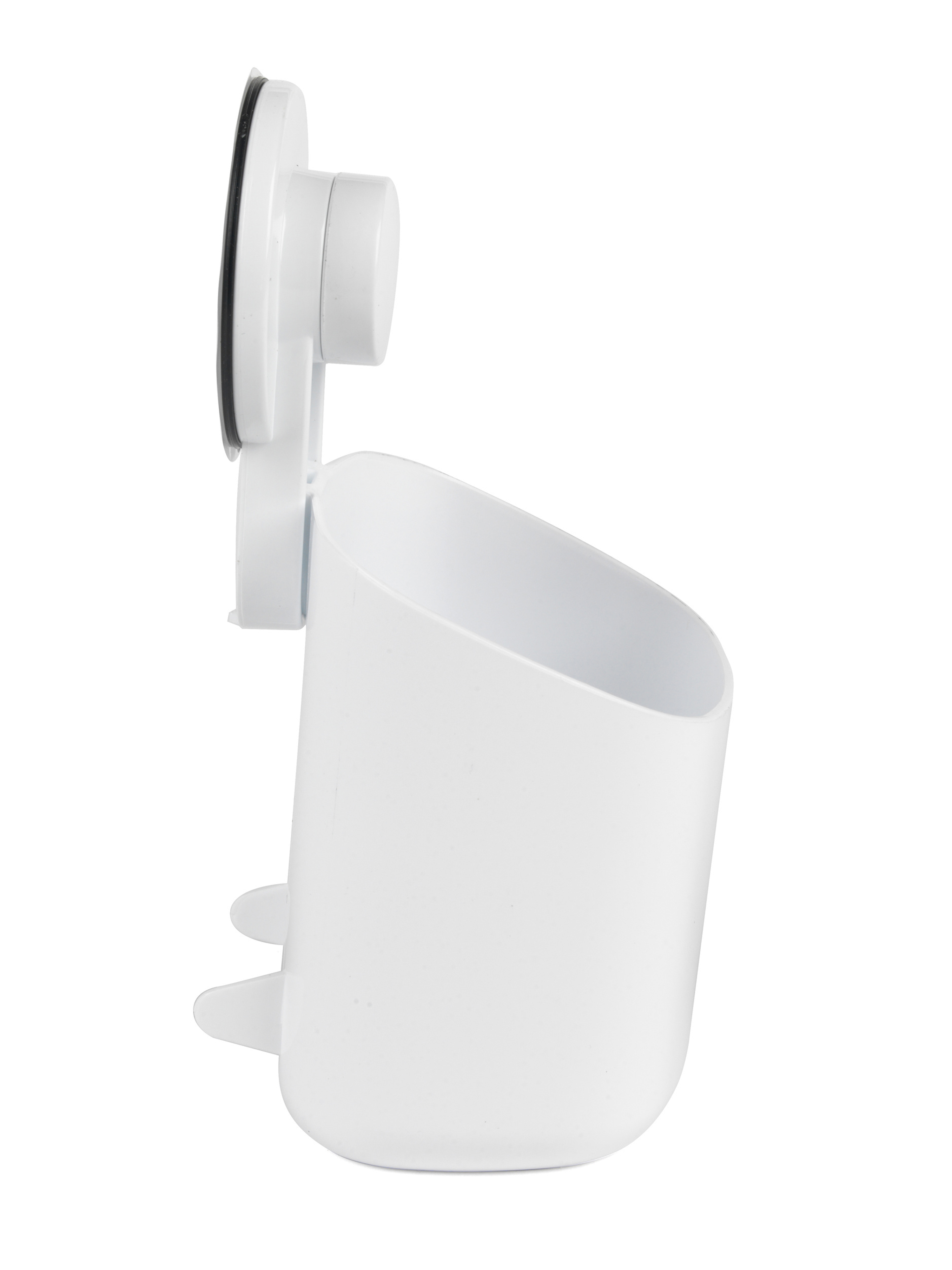 Beldray Bathroom Plastic Suction Toothbrush Holder And Square Mirror With Shelf White