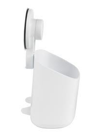 Beldray Bathroom Plastic Suction Toothbrush Holder and Square Suction Mirror with Shelf, White Thumbnail 6