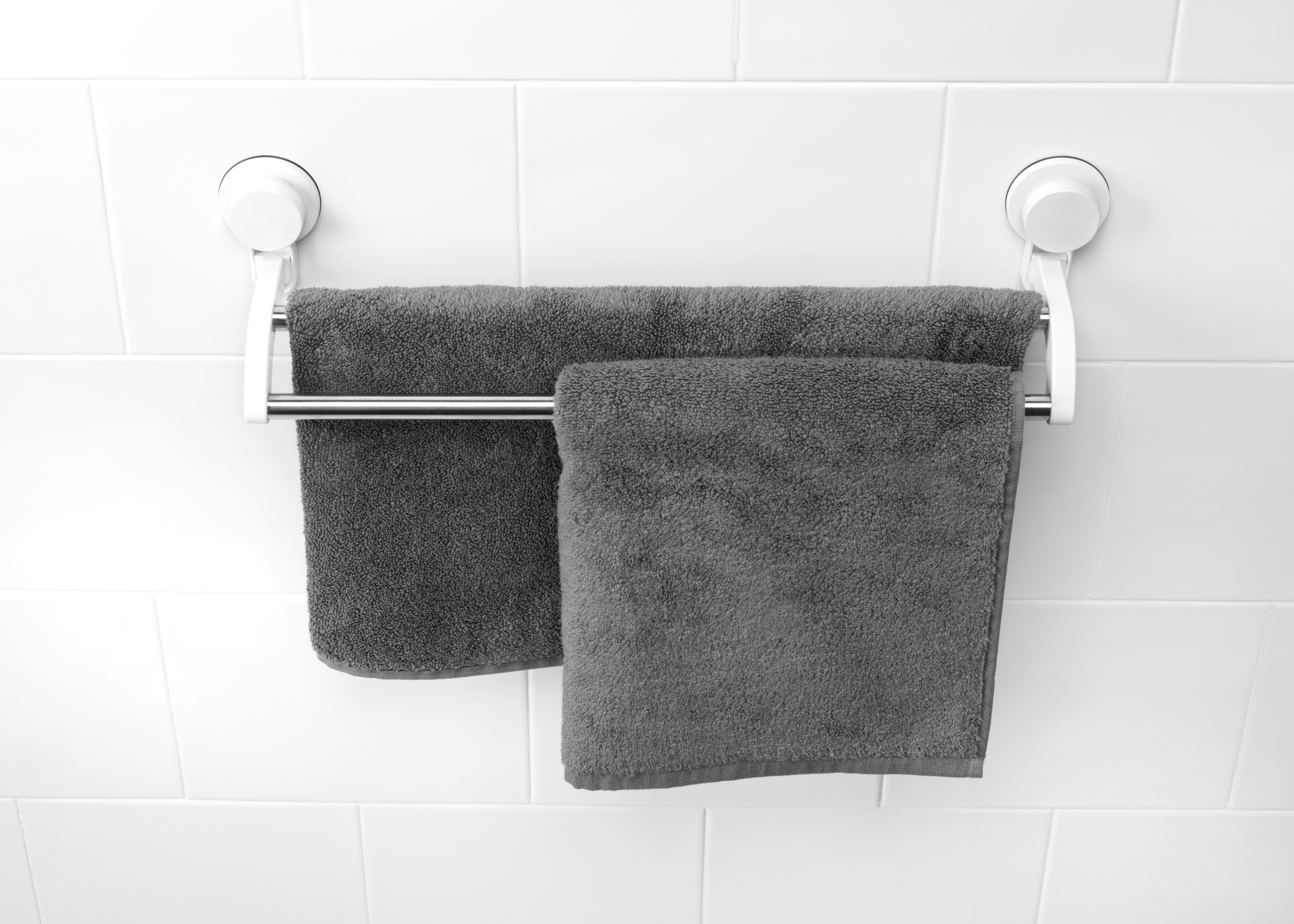 beldray bathroom plastic suction towel ring and double. Black Bedroom Furniture Sets. Home Design Ideas