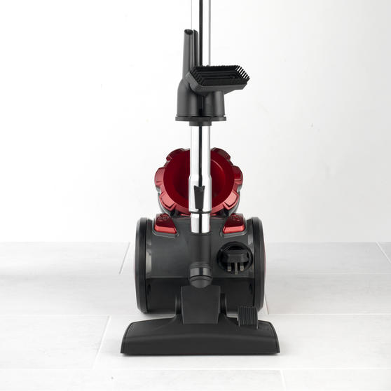 Beldray BEL0666 Compact Cylinder Dual Cyclonic Pet Plus Vacuum Cleaner, 700 W, Red