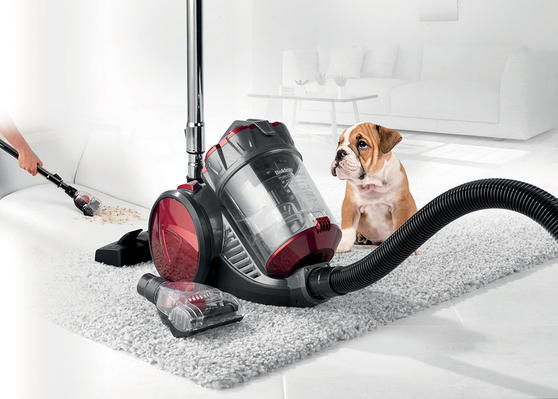 Beldray Compact Cylinder Dual Cyclonic Pet Plus Vacuum Cleaner, 700 W, Red Thumbnail 1