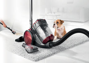 Beldray BEL0666 Compact Cylinder Dual Cyclonic Pet Plus Vacuum Cleaner, 700 W, Red Thumbnail 1