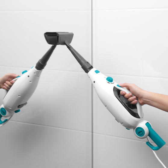 Beldray 12 in 1 Microfibre Brush Nozzle Grouting Garment Upholstery Window Mirror Flexi Steam Cleaner, 1300 W, Turquoise Thumbnail 4