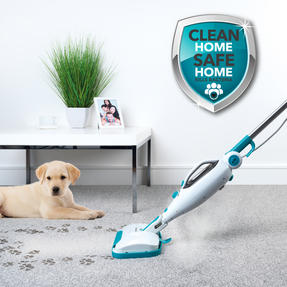 Beldray BEL0698 12 in 1 Microfibre Brush Nozzle Grouting Garment Upholstery Window Mirror Flexi Steam Cleaner, 1300 W, Turquoise Thumbnail 3