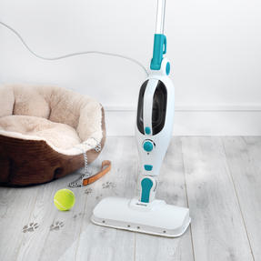 Beldray BEL0698 12 in 1 Microfibre Brush Nozzle Grouting Garment Upholstery Window Mirror Flexi Steam Cleaner, 1300 W, Turquoise Thumbnail 5
