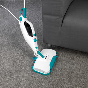 Beldray BEL0698 12 in 1 Microfibre Brush Nozzle Grouting Garment Upholstery Window Mirror Flexi Steam Cleaner, 1300 W, Turquoise Thumbnail 7