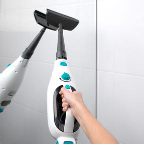 Beldray BEL0698 12 in 1 Microfibre Brush Nozzle Grouting Garment Upholstery Window Mirror Flexi Steam Cleaner, 1300 W, Turquoise Thumbnail 8