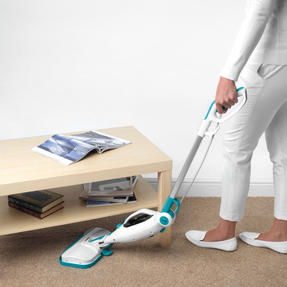 Beldray BEL0698 12 in 1 Microfibre Brush Nozzle Grouting Garment Upholstery Window Mirror Flexi Steam Cleaner, 1300 W, Turquoise Thumbnail 6