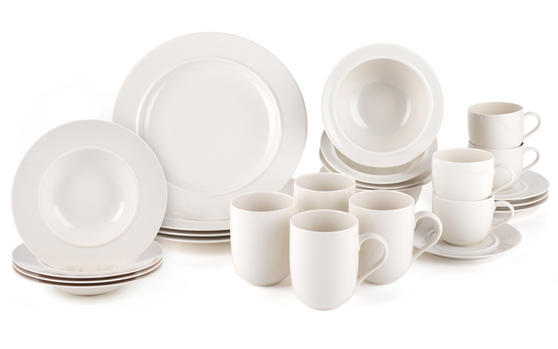 Alessi La Bella Tavola Porcelain 4-Place Setting Dining Dinnerware Set
