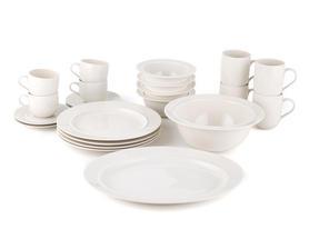 Alessi La Bella Tavola Porcelain 4-Place Setting Dining Set with Serving Bowl & Serving Platter Thumbnail 2