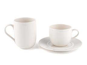 Alessi La Bella Tavola Porcelain 4-Place Setting Dining Set with Serving Bowl & Serving Platter Thumbnail 4