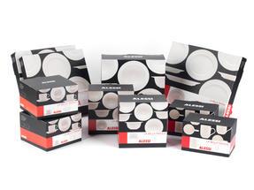 Alessi La Bella Tavola Porcelain 4-Place Setting Dining Set with Serving Bowl & Serving Platter Thumbnail 6