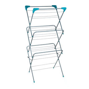 Beldray LA050397 Elegant 3 Tier Clothes Airer, 15 m Drying Space, Turquoise Thumbnail 1