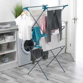 Beldray LA050397 Elegant 3 Tier Clothes Airer, 15 m Drying Space, Turquoise Thumbnail 2