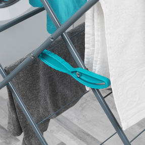 Beldray LA050397 Elegant 3 Tier Clothes Airer, 15 m Drying Space, Turquoise Thumbnail 5