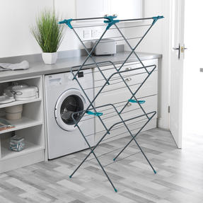 Beldray LA050397 Elegant 3 Tier Clothes Airer, 15 m Drying Space, Turquoise Thumbnail 6
