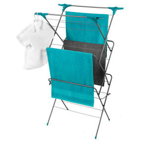 Beldray LA050397 Elegant 3 Tier Clothes Airer, 15 m Drying Space, Turquoise Thumbnail 8