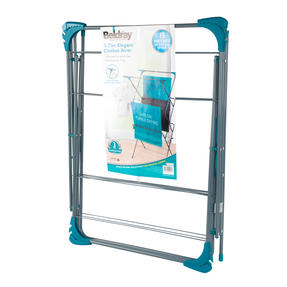 Beldray LA050397 Elegant 3 Tier Clothes Airer, 15 m Drying Space, Turquoise Thumbnail 9