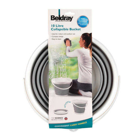 Beldray 4 Piece Cleaning Set with Extendable Microfibre Mop, Collapsible Bucket and Two Mop Heads Thumbnail 5