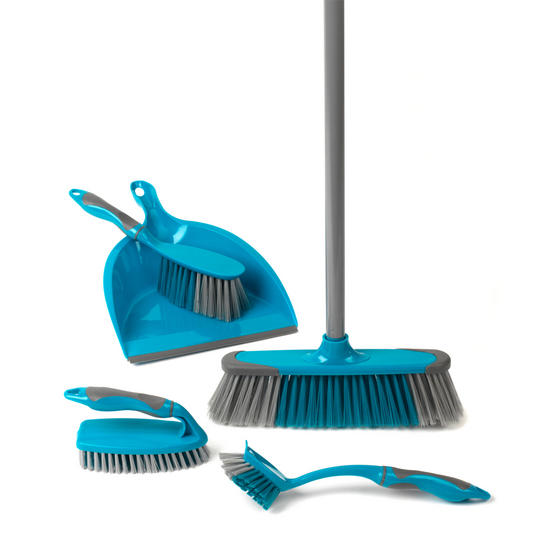 Beldray 7 Piece Cleaning Set with Broom, Brushes, 14 Litre Bucket and Extendable Microfibre Mop Thumbnail 3